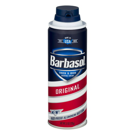 - (2 Pack) Barbasol Original Thick & Rich Shaving Cream for Men, 6 OZ