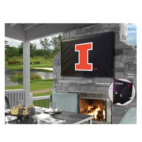 NCAA TV Cover by Holland Bar Stool, 40''-46'' -  Fighting Illini