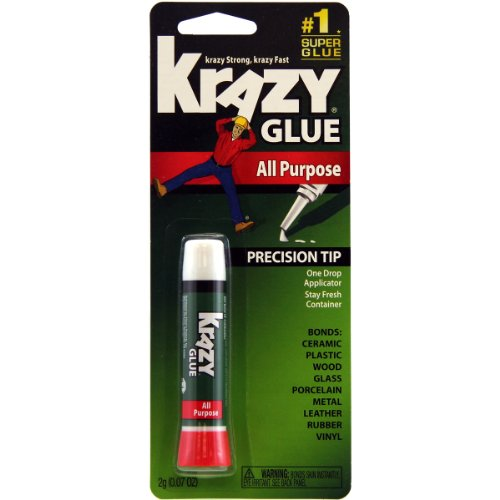 Krazy Glue KG58548R Instant Krazy Glue All Purpose Tube 0.07-Ounce