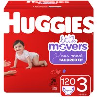 Huggies Little Movers Baby Diapers, Size 3, 120 Ct, Giant Pack