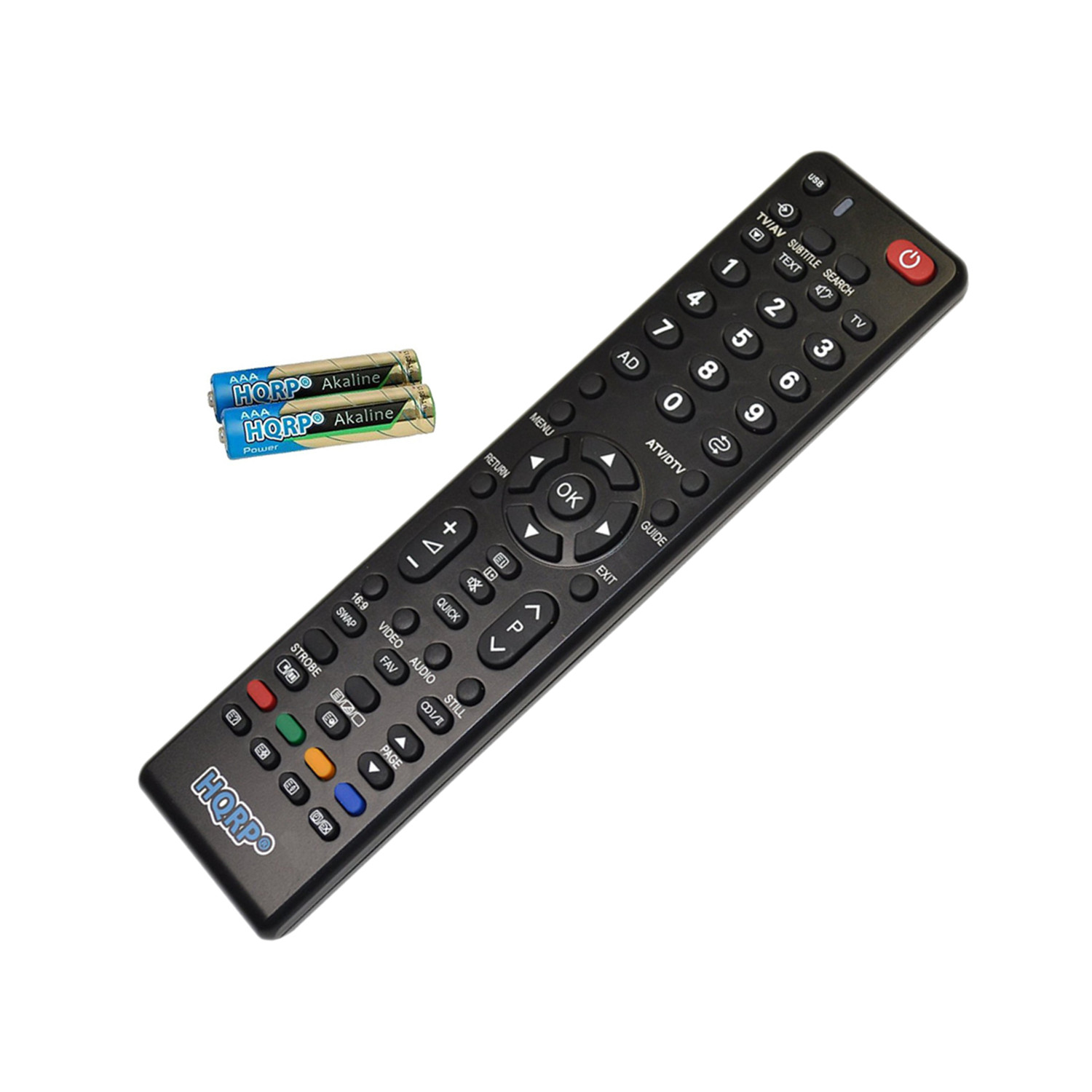 HQRP Remote Control for Toshiba 58L4300U, 58L5400U, 58L7300U, 58L7300UM, 58L7350U, 58L8400U LCD LED HD TV Smart 1080p 3D Ultra 4K + HQRP Coaster
