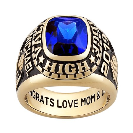 Personalized Men's 14kt gold plated Celebrium Large Traditional Class (Gold Class Ring)