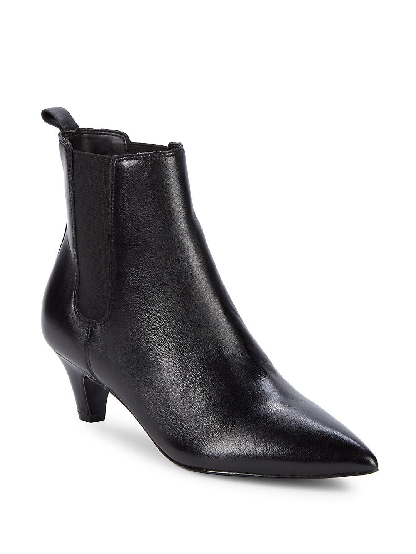 Pierce Leather Booties