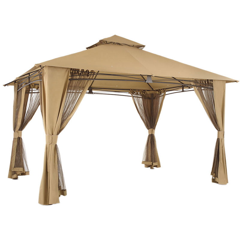 innovative design 6b733 f496f Garden Winds Replacement Canopy Top for The Waterford Gazebo - Walmart.com