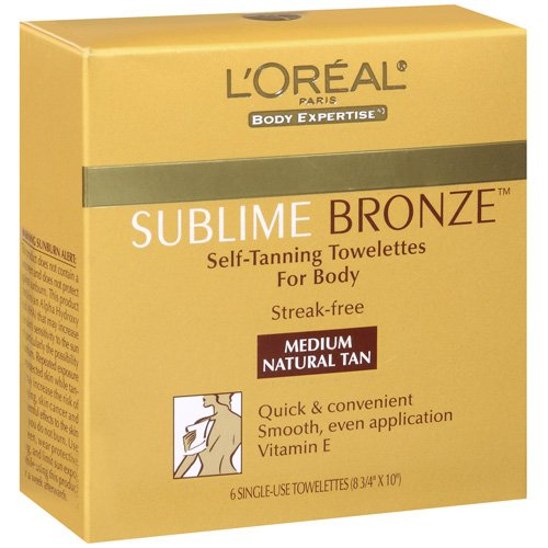 L'Oreal Paris Sublime Bronze Self-Tanning Towelettes
