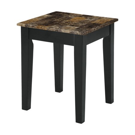Acme Celestial Faux Marble End Table in Black