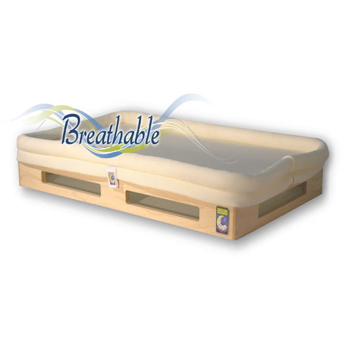 Mini SafeSleep Breathable Crib Mattress, Natural by Secure Beginnings