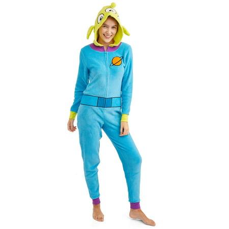 Disney Toy Story Women's and Women's Plus Alien Union Suit (Toy Story Alien Onesie For Adults)