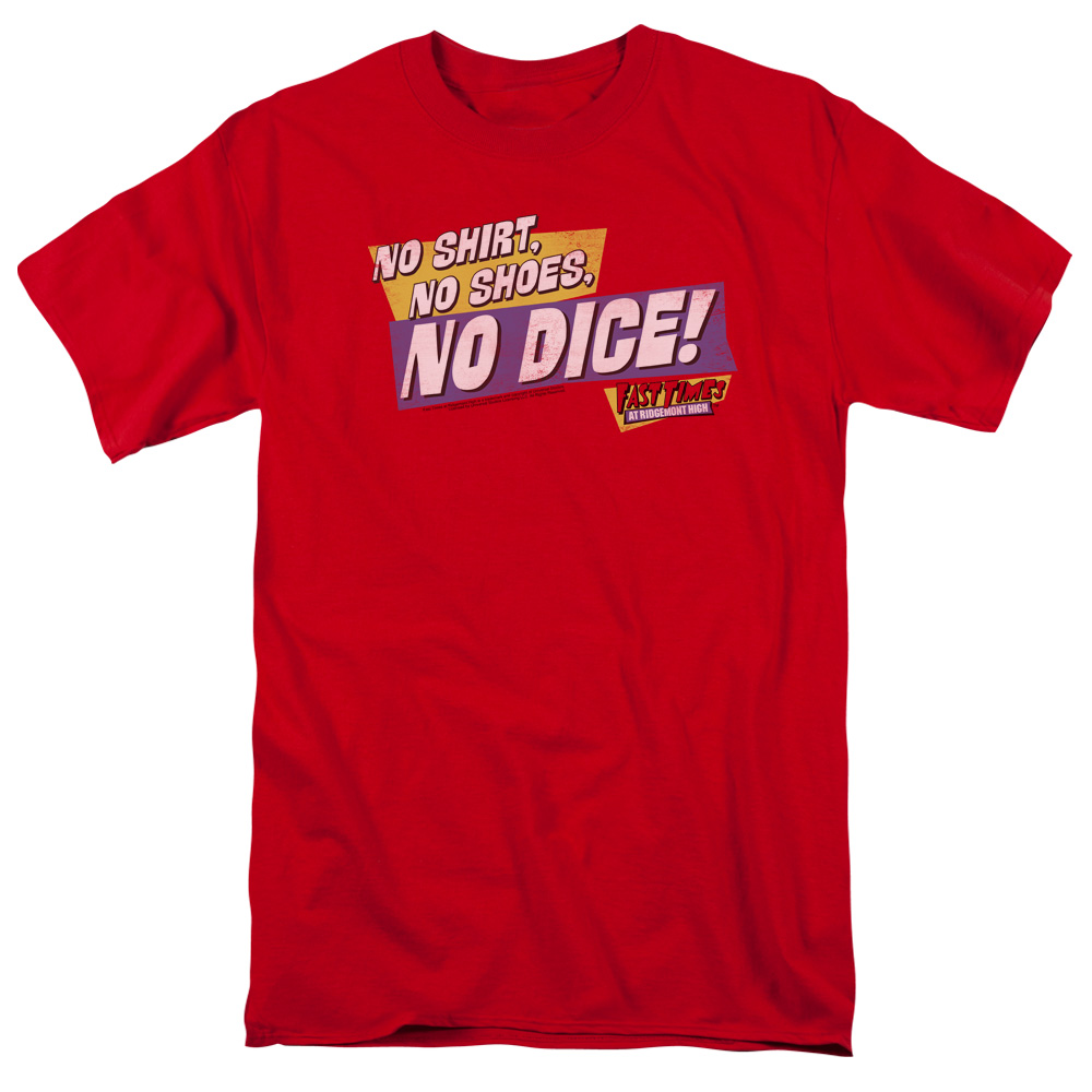 Fast Times at Ridgemont High No Dice Mens Short Sleeve Shirt
