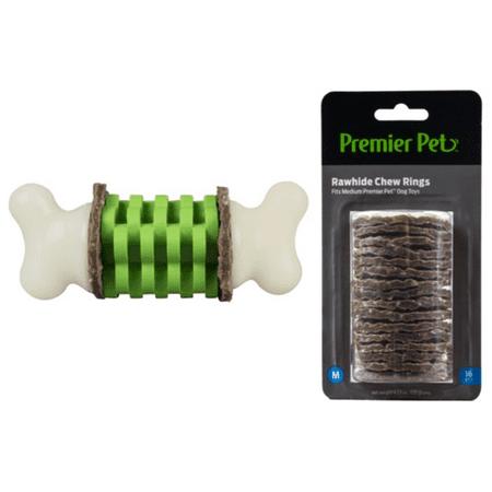 Premier Pet Rawhide Chew Ring Medium and Ring Holding Bone Medium