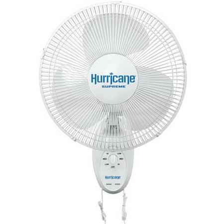 Hurricane Supreme Oscillating Wall Mount Fan 12 in
