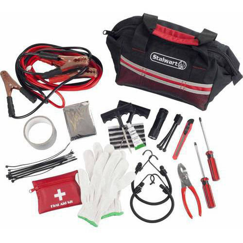 Stalwart 55-Piece Emergency Roadside Kit with Travel Bag