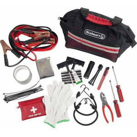 Stalwart 55-Piece Emergency Roadside Kit with Travel Bag (Emergency Kit For Home)
