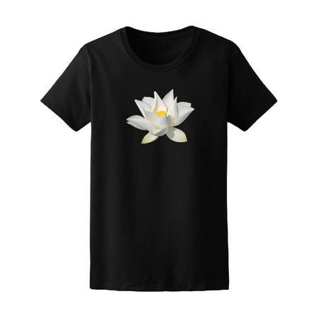 Cute White Water Lotus Flower Tee Women's -Image by Shutterstock