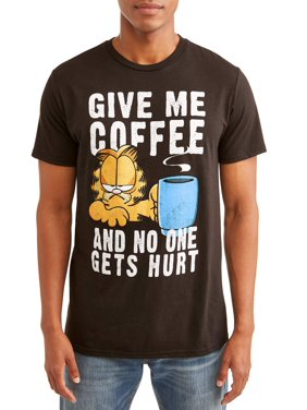 "Garfield ""Give Me Coffee"" Men's Short Sleeve Graphic T-Shirt, up to size 3XL"