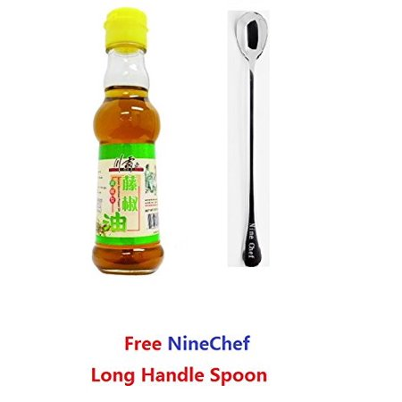 Spicy King (Chuan Ba Wang) Green Sichuan Peppercorn Oil 150ml (Pack of 2) + One NineChef (799 Peppercorn Two Light)