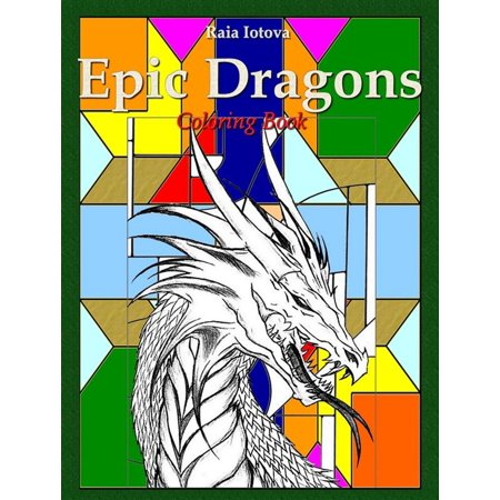 - Epic Dragons: Coloring Book - eBook