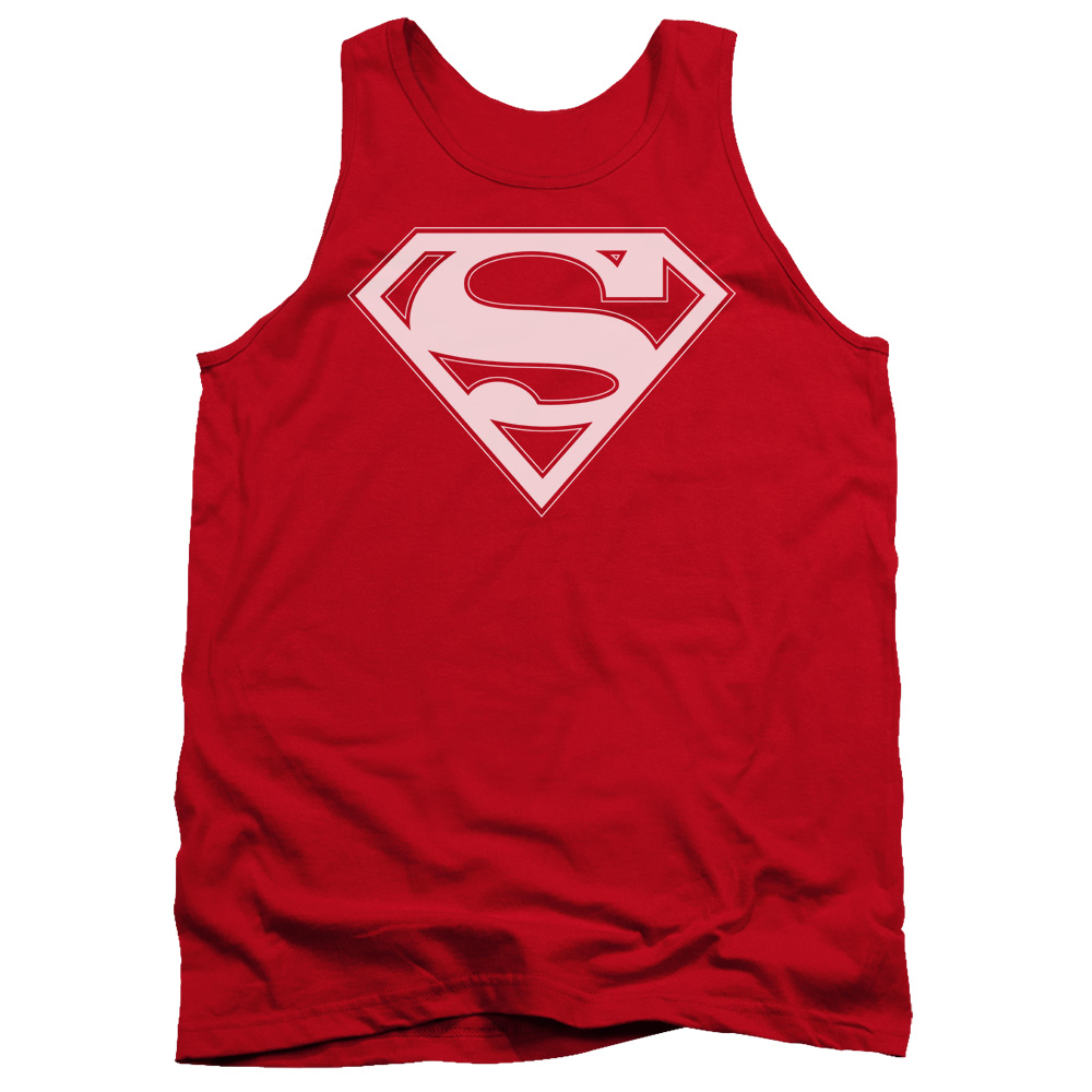 Superman Red & White Shield Mens Tank Top Shirt RED LG