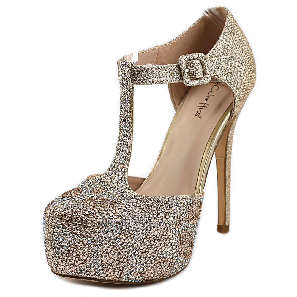 Coloriffics Kacey   Open Toe Synthetic  Platform Heel