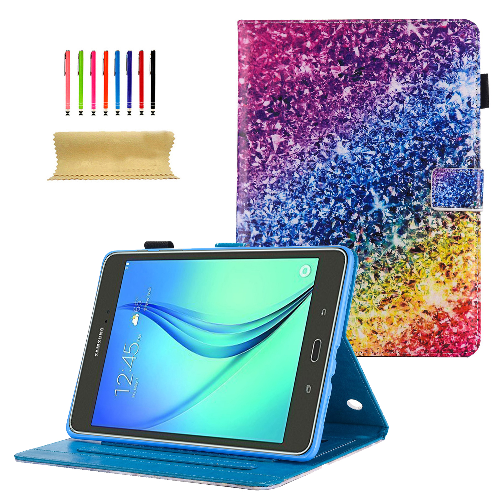 Galaxy Tab A 8.0 Case, Goodest PU Leather Folio Smart Case Cover with Auto Wake/Sleep & Card Slots for Samsung Galaxy Tab A 8.0 Inch Tablet 2015 Release( SM-T350/ SM-P350 Version ONLY), Silver Sand