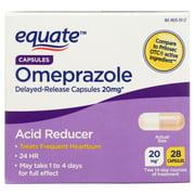Equate Acid Reducer Omeprazole Magnesium Capsules, 20.6 mg, 28 Ct