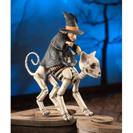 Bethany Lowe Halloween TD6022 Witch Riding Skelly Cat 2017 - Halloween Events 2017 Spring Tx