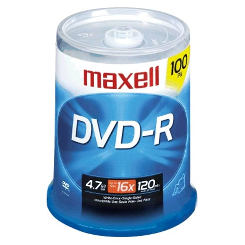 Maxell 100-Pack 16x DVD-R Spindle