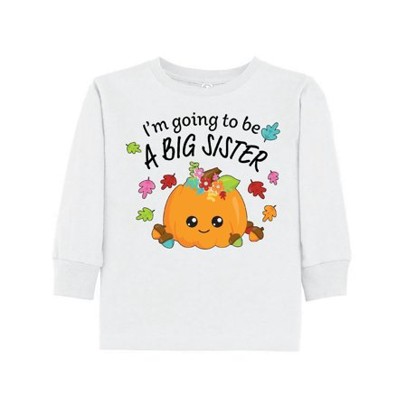 I'm Going to be a Big Sister- cute Halloween pumpkin Toddler Long Sleeve - Cute Halloween Ideas For Toddlers