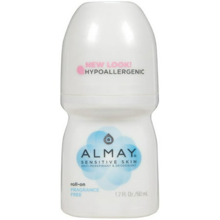Almay Anti-Perspirant & Deodorant, Sensitive Skin, Roll-On, Fragrance Free 1.7 oz