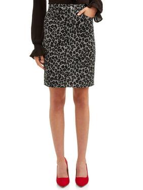 Sofia Jeans Margarita Leopard Print Pencil Skirt Women's