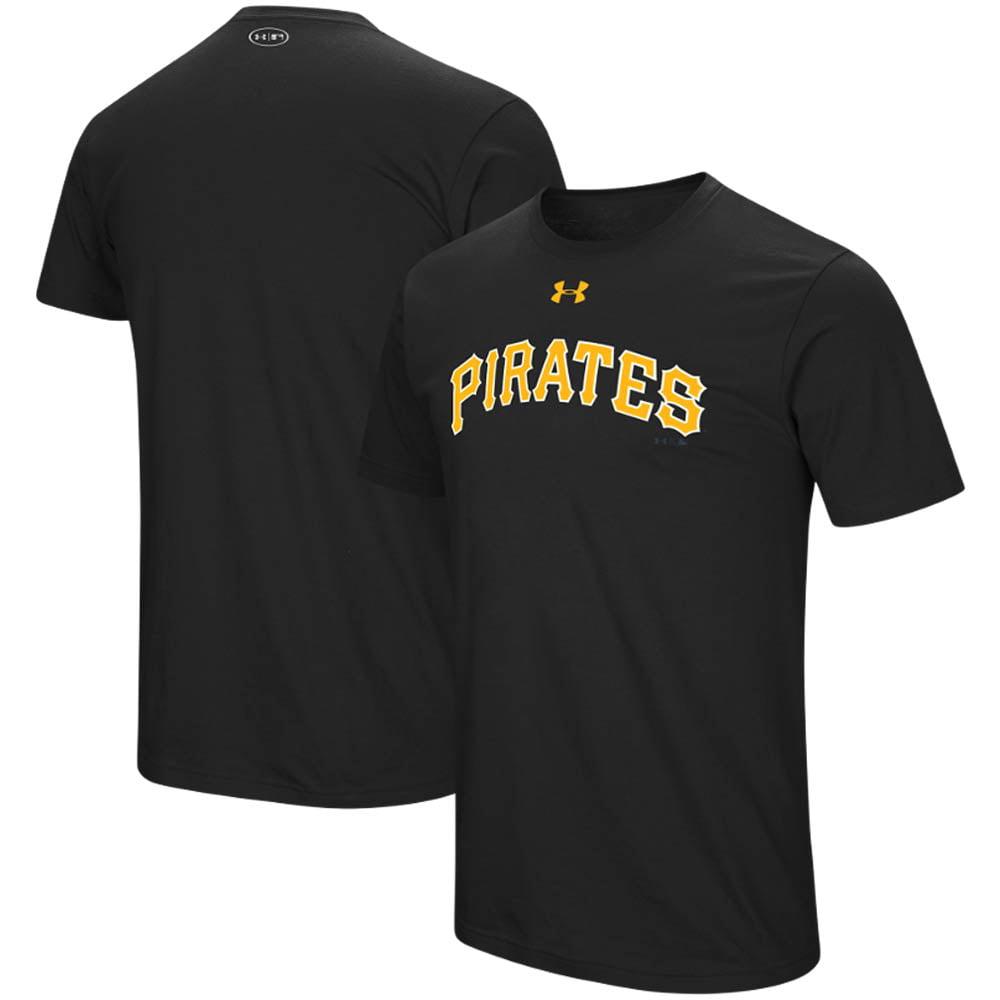 Pittsburgh Pirates Under Armour Wordmark Core T-Shirt - Black