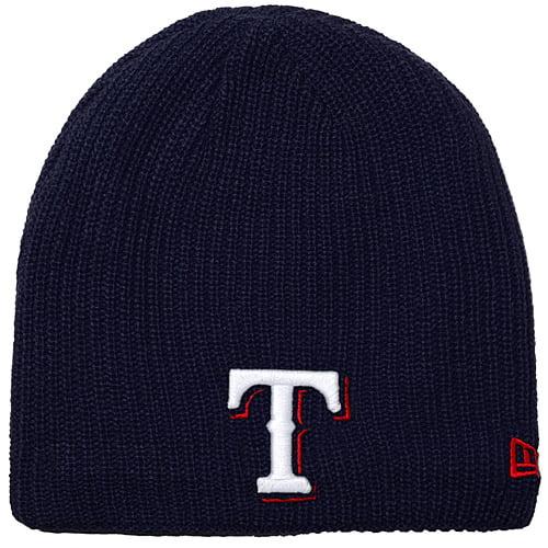 Texas Rangers New Era Women's Soft Snow Fleece Knit Beanie - Navy - OSFA