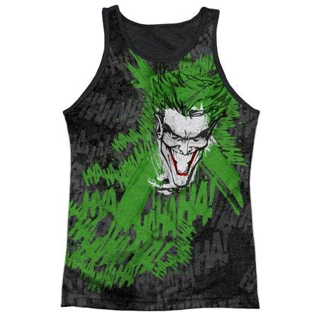 Batman DC Comics Superhero What's So Funny Joker Adult Black Back Tank Top Shirt