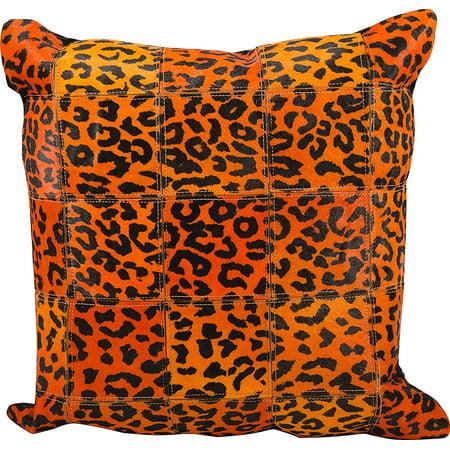 Nourison Leopard Print Leather Hide Decorative Pillow Walmart Extraordinary Leopard Print Pillows Decorative