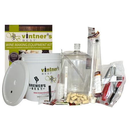 Starter Winemaking Equipment Kit w/ Better Bottle & Double Lever Corke (Wine Making Bottles)