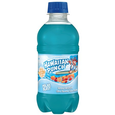 (24 Bottles) Hawaiian Punch Polar Blast, 10 Fl Oz