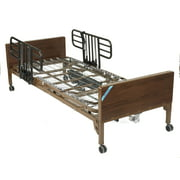 Drive Medical Delta Ultra Light Full Electric Hospital Bed with Half Rails