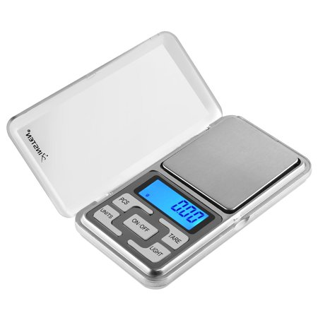 Insten Pocket Jewelry Scale Digital 0.01 g gram 200g Kitchen Food Small Mini Scale Weight Scale, Tare Fuction, 4 unit selection: g tl oz