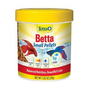 TetraBetta Floating Mini Pellets, Betta Fish Food-1.02 oz