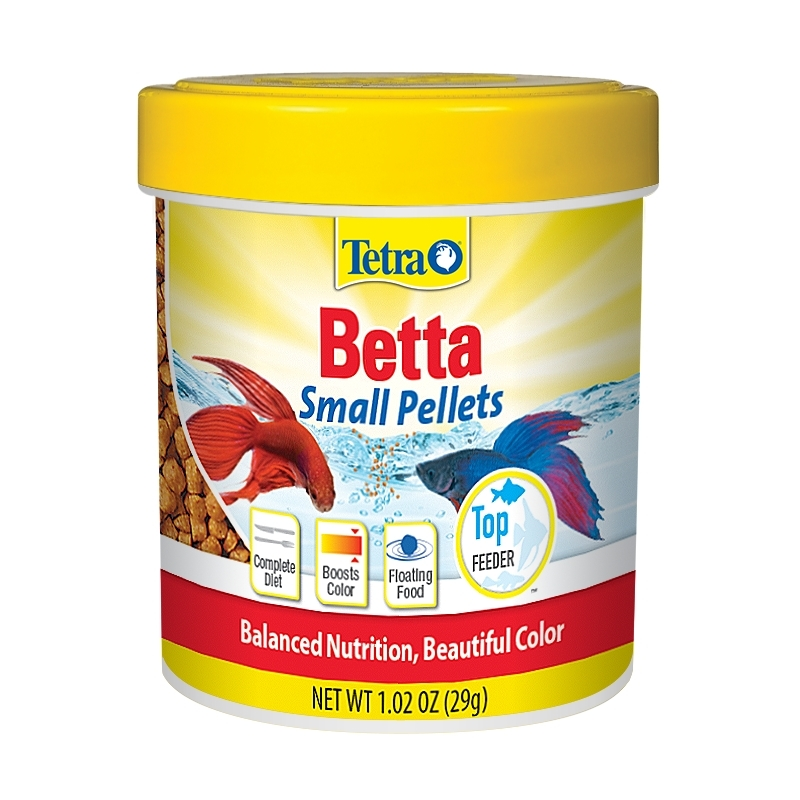 TetraBetta Floating Mini Pellets, Betta Fish Food-1.02 oz
