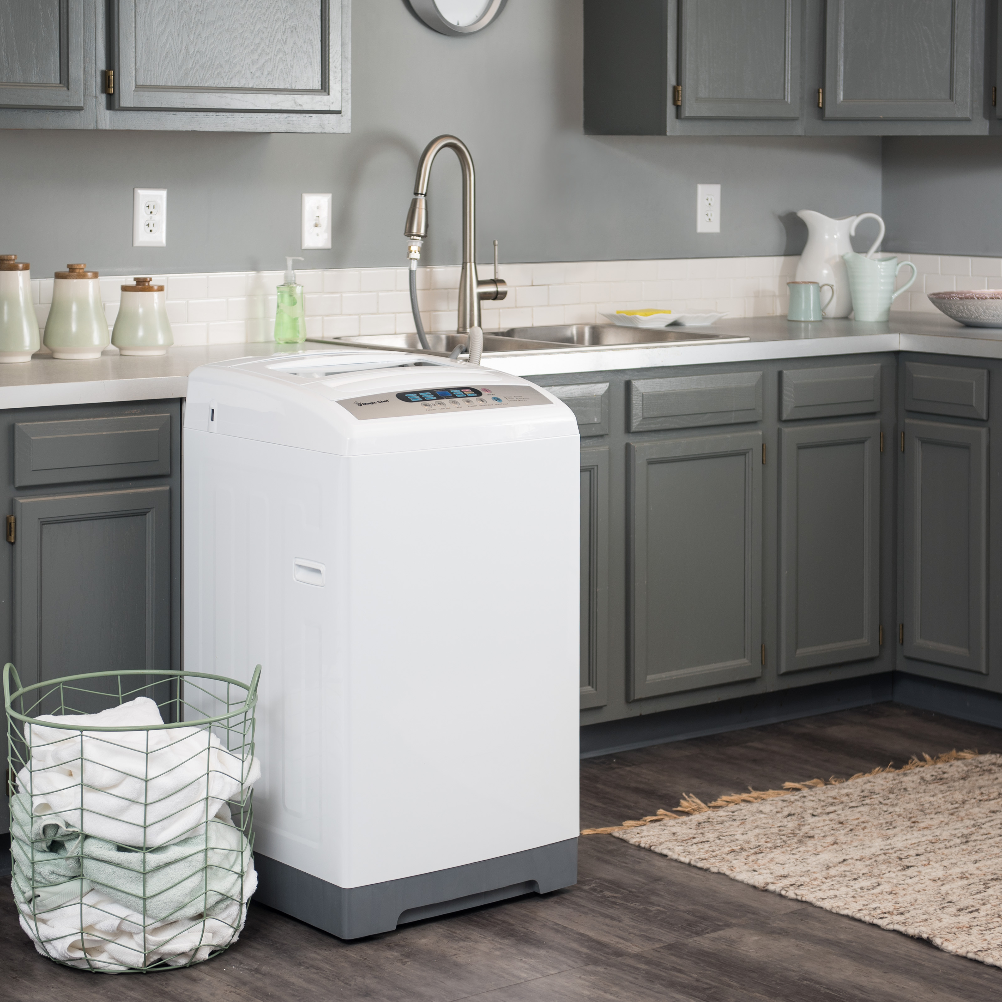 Magic Chef 1.6 cu ft Topload Compact Washer, White - Walmart.com