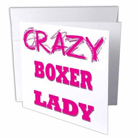 3drose crazy boxer lady greeting cards 6 x 6 inches set of 6 3drose crazy boxer lady greeting cards 6 x 6 inches set of 6 m4hsunfo