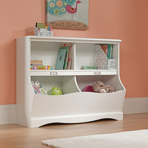 Sauder Pogo Bookcase Storage Bin in Soft White by Sauder Woodworking