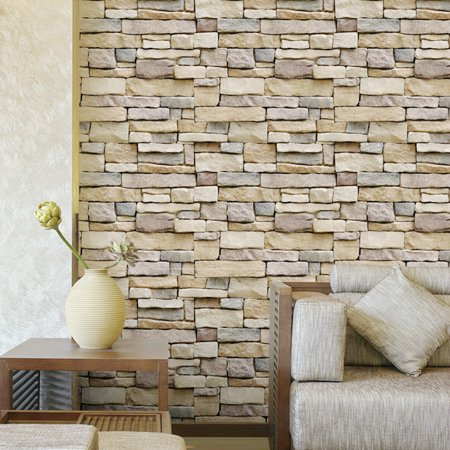 self-adhesive 3d brick schist wallpaper sticker film wall sticker