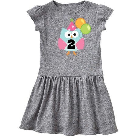 2nd Birthday Party Cute Owl Balloons Toddler Dress](Owl Birthday Party)