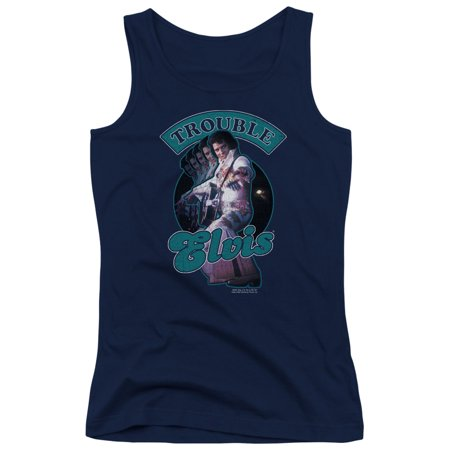 Elvis Presley Total Trouble Juniors Tank Top Shirt