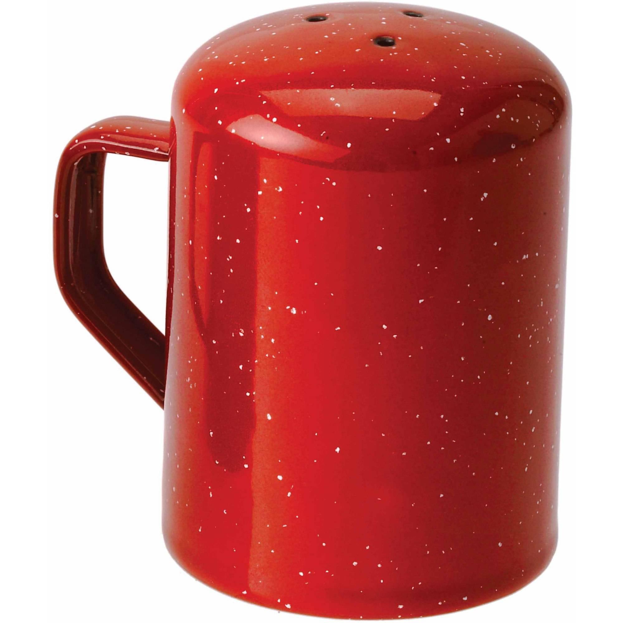 Sweepex Gsi Outdoors Enamelware 3-Hole Salt Shaker, Red