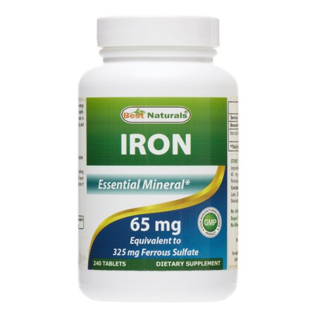 Best Naturals Iron 65 mg, 240 Ct (Best Time To Take Stresstabs With Iron)