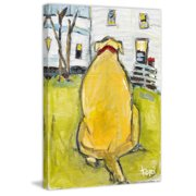 """Marmont Hill """"Fat Ass"""" by Tori Campisi Painting Print on Canvas"""