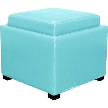 Enjoyable New Pacific Direct Cameron Square Leather Ottoman With Tray Short Links Chair Design For Home Short Linksinfo